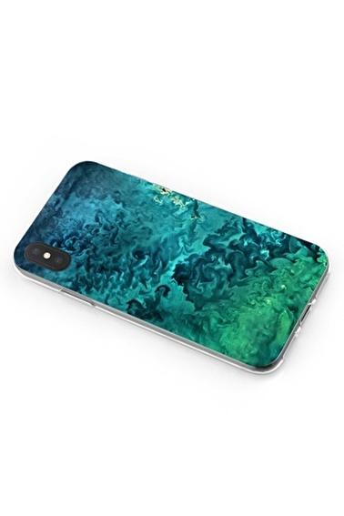 Lopard Apple İphone Xs Max Kılıf Mavi Yeşil Plazma Kapak Renkli